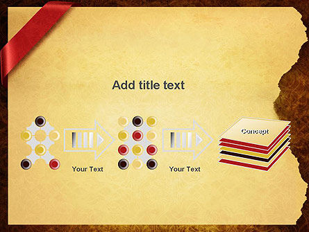 Paper with Red Ribbon PowerPoint Template Slide 9