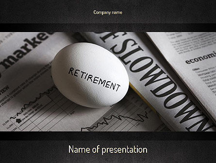 Financial/Accounting: Retirement Pension PowerPoint Template #11353