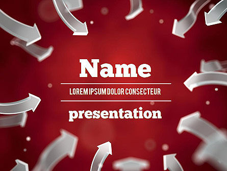 Arrows Pointing To Center PowerPoint Template, 11354, Abstract/Textures — PoweredTemplate.com