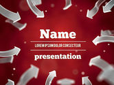Abstract/Textures: Arrows Pointing To Center PowerPoint Template #11354