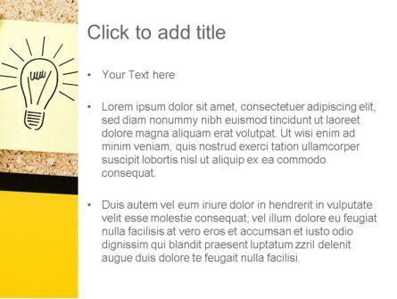 Idea Notes PowerPoint Template, Slide 3, 11356, Business Concepts — PoweredTemplate.com