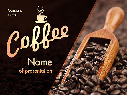 Roasted Coffee Beans PowerPoint Template, 11357, Food & Beverage — PoweredTemplate.com