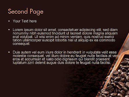 Roasted Coffee Beans PowerPoint Template, Slide 2, 11357, Food & Beverage — PoweredTemplate.com