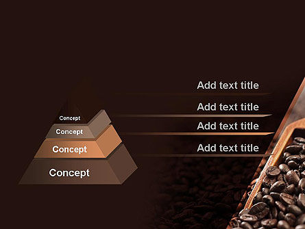 Roasted Coffee Beans PowerPoint Template, Slide 4, 11357, Food & Beverage — PoweredTemplate.com