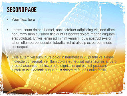 Maize Theme PowerPoint Template Slide 2