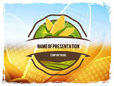 Agriculture: Maïs Thema PowerPoint Template #11358