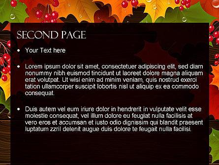 Fall Theme PowerPoint Template, Slide 2, 11360, Nature & Environment — PoweredTemplate.com