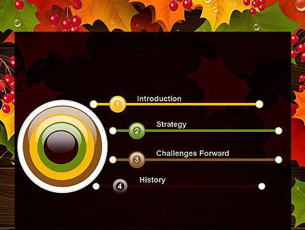 Fall Theme PowerPoint Template, Slide 3, 11360, Nature & Environment — PoweredTemplate.com