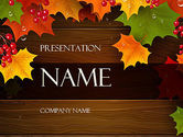Nature & Environment: Fall Theme PowerPoint Template #11360