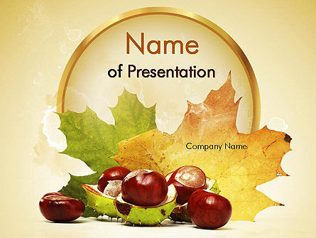 Nature & Environment: Chestnuts PowerPoint Template #11361