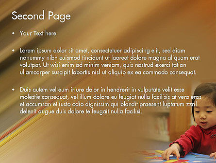 Child Care PowerPoint Template, Slide 2, 11362, Education & Training — PoweredTemplate.com