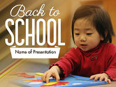 Education & Training: Child Care PowerPoint Template #11362
