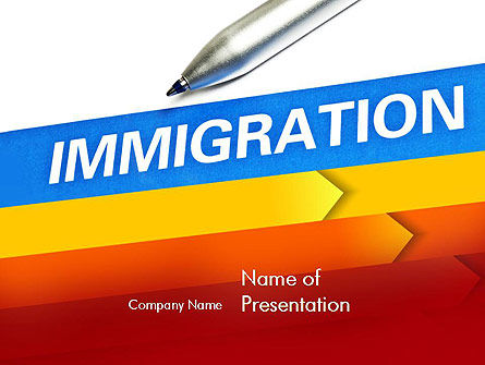 Consulting: Immigratie PowerPoint Template #11363
