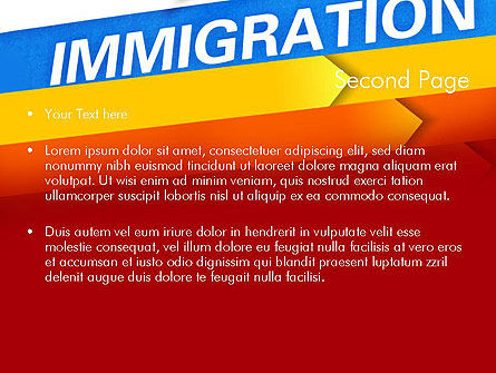 Immigration PowerPoint Template, Slide 2, 11363, Consulting — PoweredTemplate.com