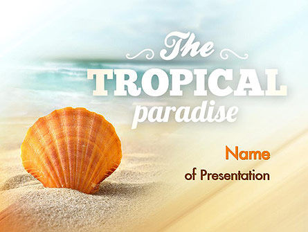 Nature & Environment: Shell On The Beach PowerPoint Template #11365