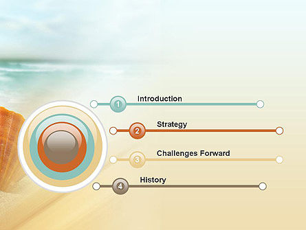 Shell On The Beach PowerPoint Template, Slide 3, 11365, Nature & Environment — PoweredTemplate.com