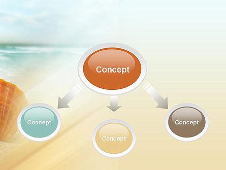 Shell On The Beach PowerPoint Template, Slide 4, 11365, Nature & Environment — PoweredTemplate.com