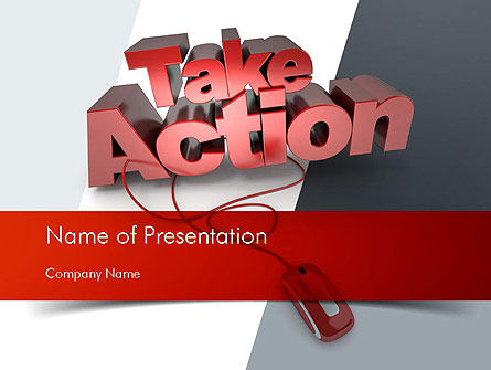 Careers/Industry: Take Action PowerPoint Template #11366