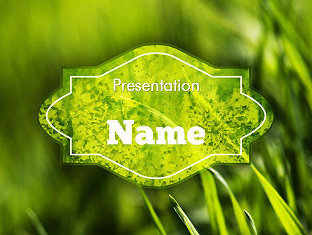 Nature & Environment: Green Grass Theme PowerPoint Template #11368