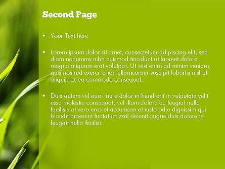 Green Grass Theme PowerPoint Template, Slide 2, 11368, Nature & Environment — PoweredTemplate.com