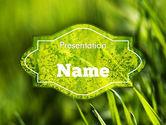 Nature & Environment: Grünes gras thema PowerPoint Vorlage #11368