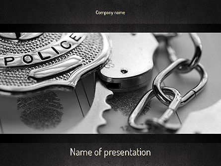 Legal: Criminal Justice PowerPoint Template #11369