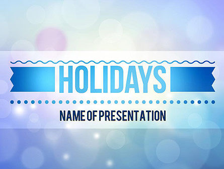 Holiday/Special Occasion: Holidays Abstract Theme PowerPoint Template #11370