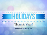 Holidays Abstract Theme PowerPoint Template#20