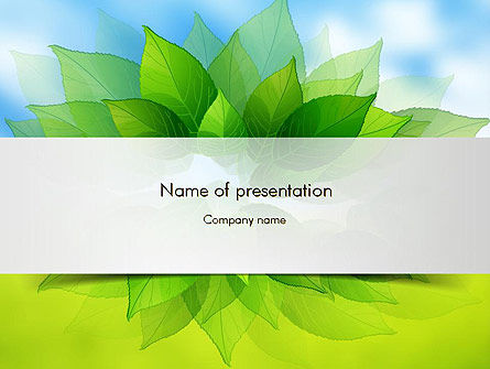 Nature & Environment: Bunch of Green Leaves PowerPoint Template #11374