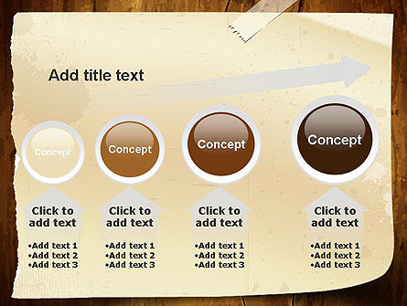 Note Paper With Adhesive Tape PowerPoint Template Slide 13
