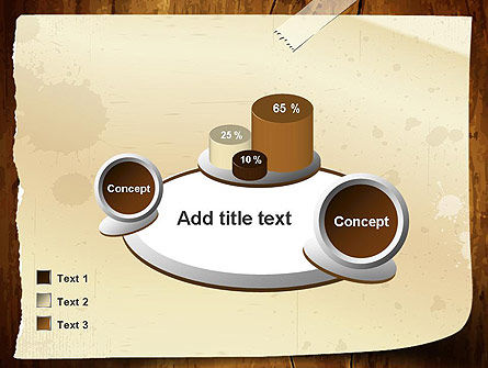 Note Paper With Adhesive Tape PowerPoint Template Slide 16