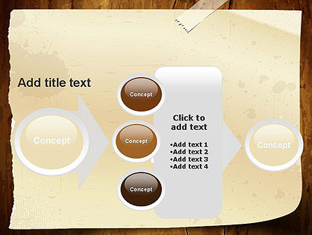 Note Paper With Adhesive Tape PowerPoint Template Slide 17