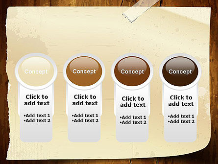 Note Paper With Adhesive Tape PowerPoint Template Slide 5