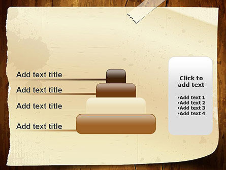 Note Paper With Adhesive Tape PowerPoint Template Slide 8