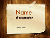 Careers/Industry: Note Paper With Adhesive Tape PowerPoint Template #11376
