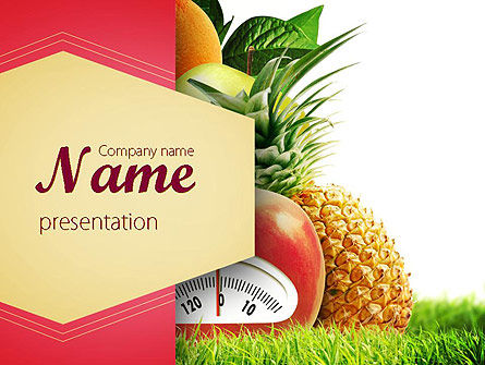 Diet Food Powerpoint Template, Backgrounds | 11380