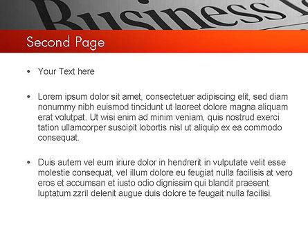 Breaking News PowerPoint Template, Slide 2, 11381, Careers/Industry — PoweredTemplate.com