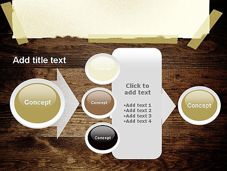 Paper With Adhesive Tape PowerPoint Template Slide 17