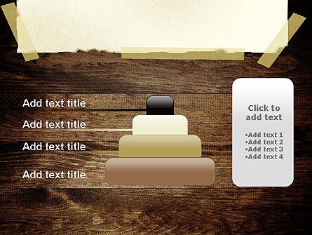 Paper With Adhesive Tape PowerPoint Template Slide 8