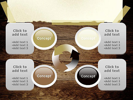 Paper With Adhesive Tape PowerPoint Template Slide 9