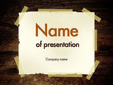 Business Concepts: Paper With Adhesive Tape PowerPoint Template #11383