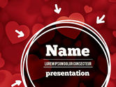 Holiday/Special Occasion: Hearts Background PowerPoint Template #11384