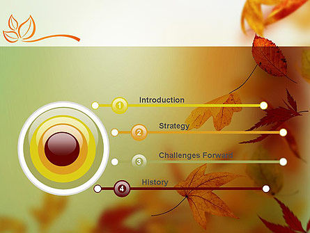 Falling Leaves Theme PowerPoint Template, Slide 3, 11387, Nature & Environment — PoweredTemplate.com