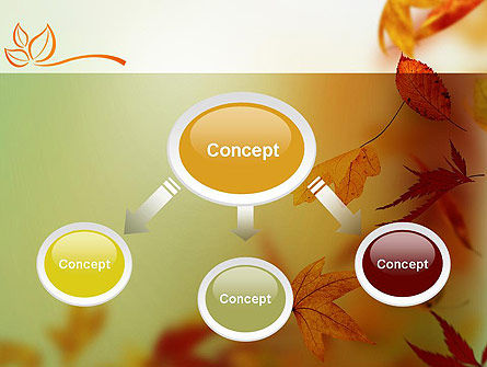 Falling Leaves Theme PowerPoint Template, Slide 4, 11387, Nature & Environment — PoweredTemplate.com