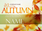 Nature & Environment: Falling Leaves Theme PowerPoint Template #11387