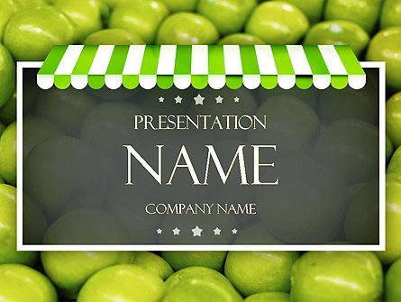 Apple Grocery PowerPoint Template, 11389, Careers/Industry — PoweredTemplate.com