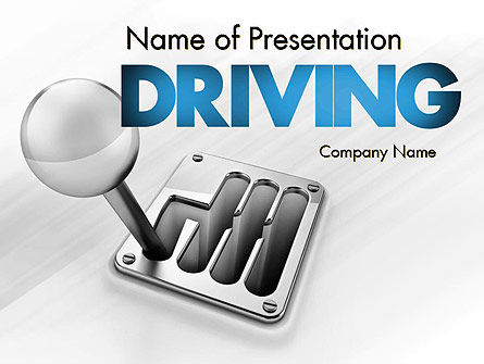 Gear Lever PowerPoint Template