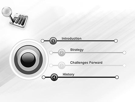 Gear Lever PowerPoint Template Slide 3