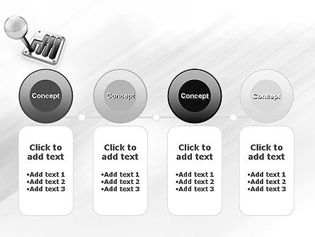 Gear Lever PowerPoint Template Slide 5