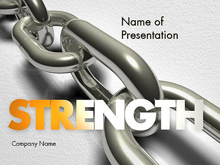 Business Concepts: Chain Links PowerPoint Template #11391